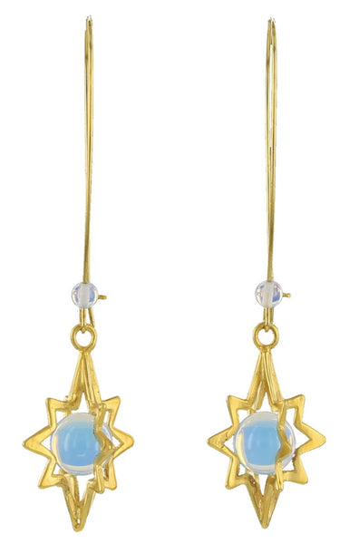 STAR CAGE / GOLD / OPALITE