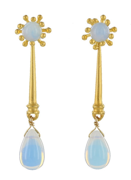 SPLASH STUD WITH REMOVABLE DROP / GOLD / OPALITE