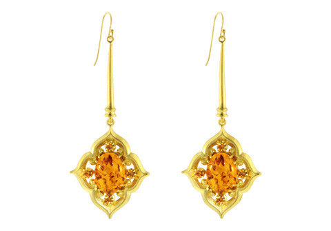 OVAL GOTHIC DROPS / AMBER