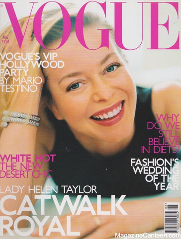Vogue Magazine -  August 2000 - Lady Helen Taylor