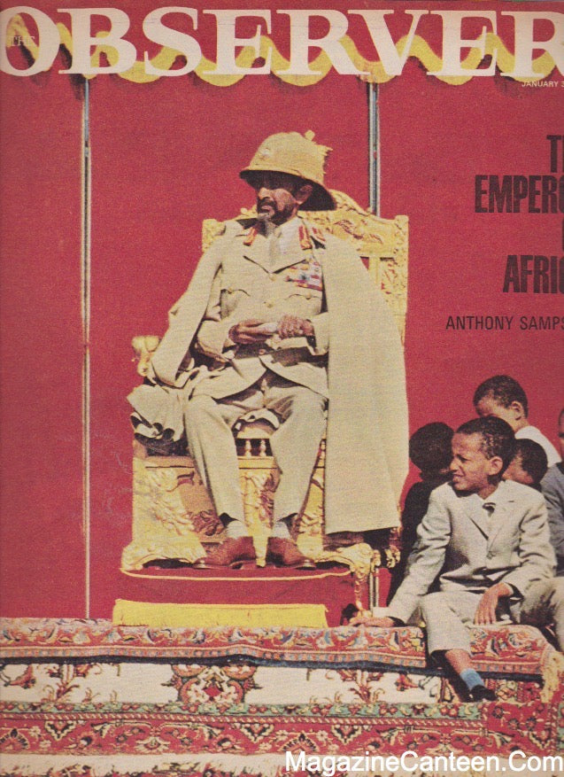 The Observer Magazine 1965 - Haile Selassie Alex Sterling