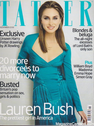 Tatler Magazine - November 2004 - Lauren Bush