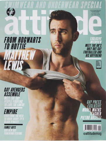 Attitude Magazine - Issue 258 - Matthew Lewis harry potter