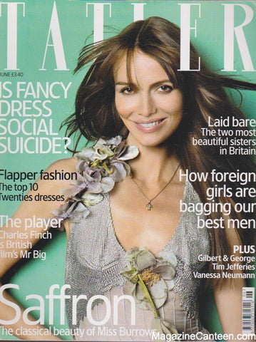 Tatler Magazine - June 2004 - Saffron Burrows