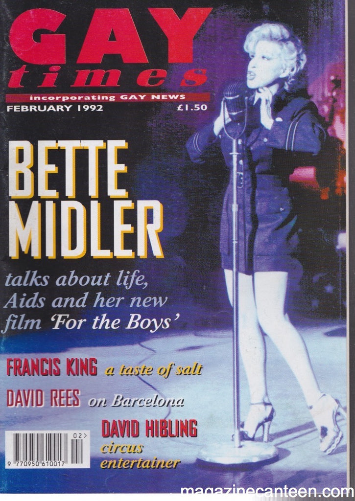 Gay Times Magazine - 1992 - Bette Midler