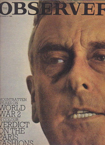 The Observer Magazine 1964 -  Lord Mountbatten