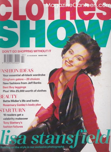 Clothes Show magazine 1992 - Lisa Stansfield