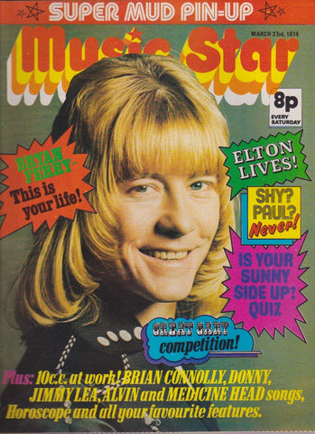 Music Star Magazine -  Brian Connolly - The Sweet - 1974