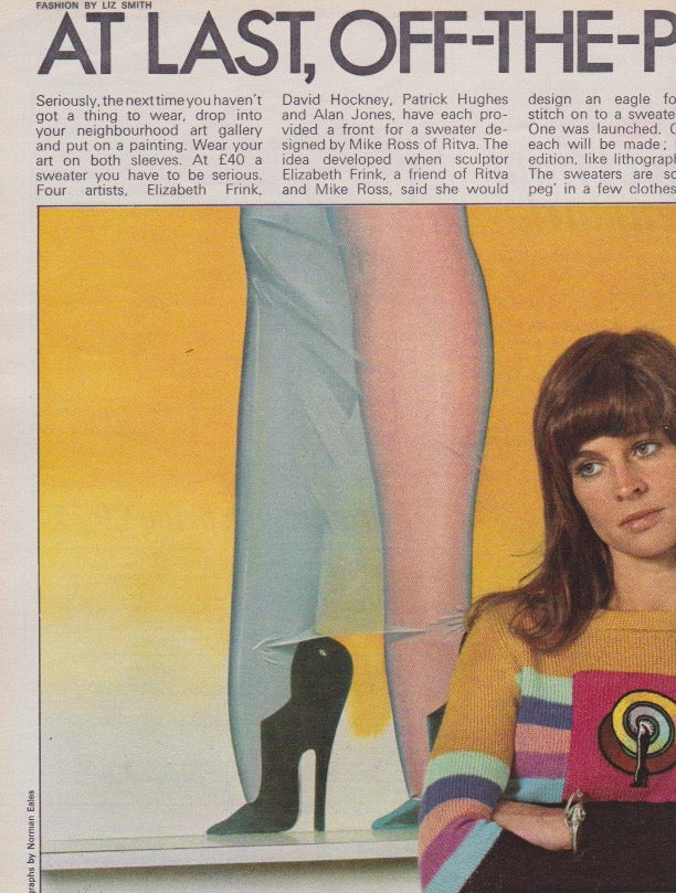 Julie Christie - Off the peg sweaters allen jones magazine