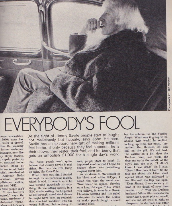 The Observer - Jimmy Savile - Everybody's fool