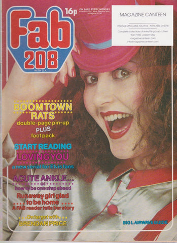 Fabulous 208 Magazine - The Boomtown Rats