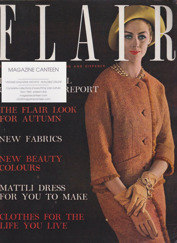 Flair Magazine 1961 - Adrian Flowers
