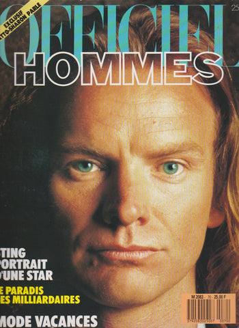 L'Officiel Hommes Magazine - Sting - The Police