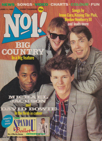 Number One Magazine 1983 - Big Country
