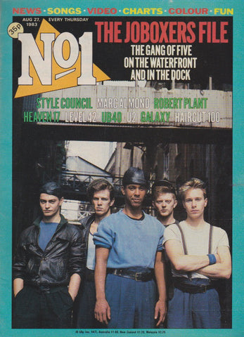 Number One Magazine 1983 - Jo Boxers