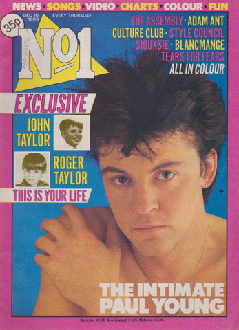 Number One Magazine 1983 - Paul Young