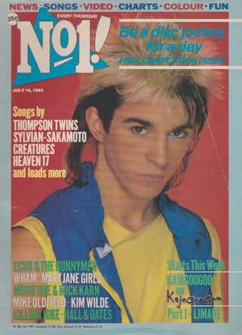 Number One Magazine 1983 - Limahl