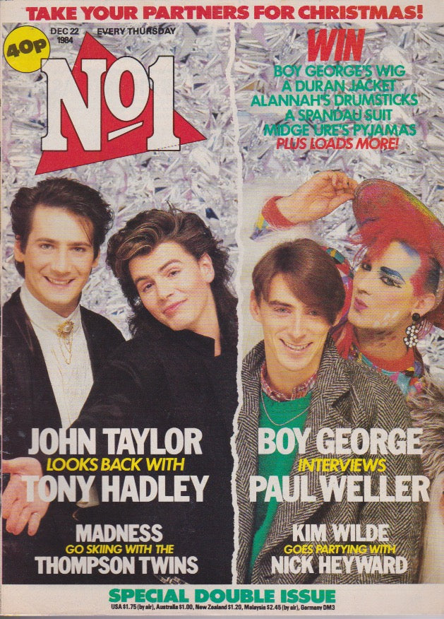 Number One Magazine 1984 - Various cover Boy George