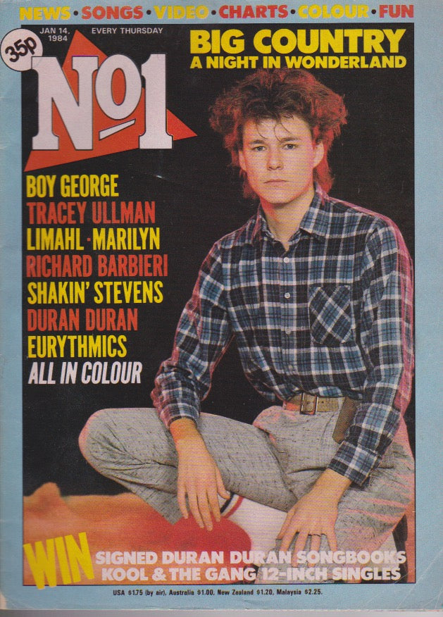 Number One Magazine 1984 - Stuart Adamson Big Country
