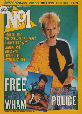 Number One Magazine 1983 - Howard Jones