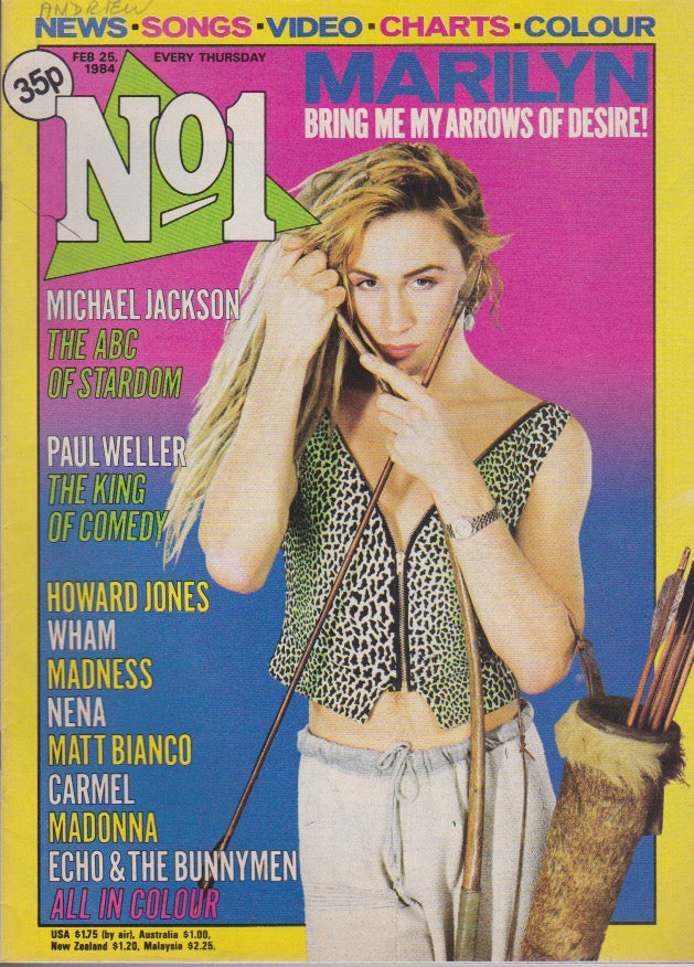 Number One Magazine 1984 - Marilyn