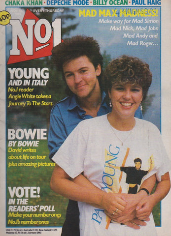 Number One Magazine 1984 - Paul Young