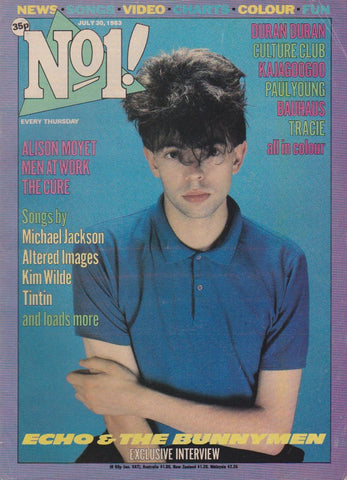 Number One Magazine 1983 - Echo And The Bunnymen