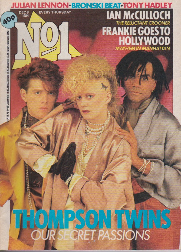 Number One Magazine 1984 - The Thompson Twins