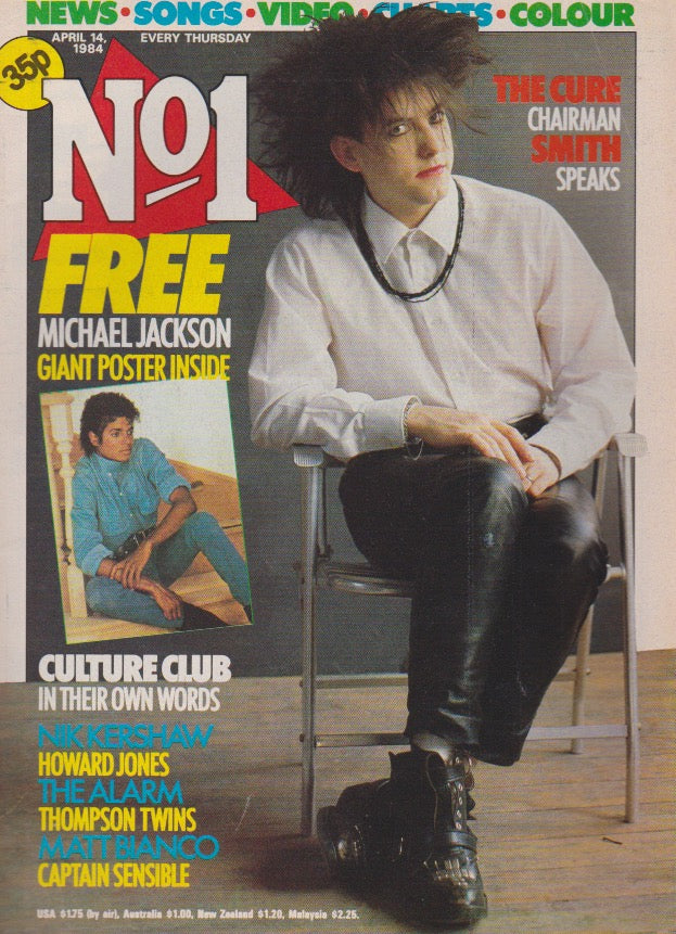 Number One Magazine 1983 - Robert Smith The Cure