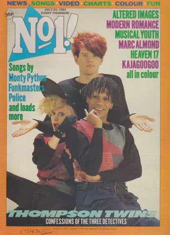 Number One Magazine 1983 - The Thompson Twins