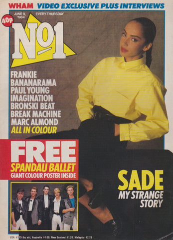 Number One Magazine 1984 - Sade
