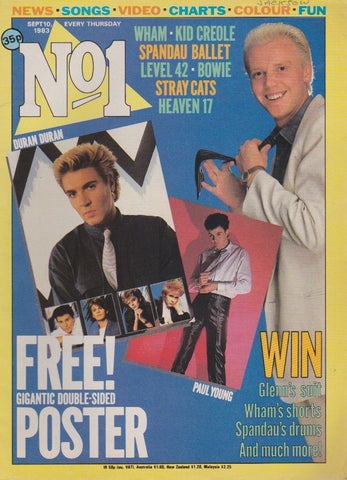 Number One Magazine 1983 - Glenn Gregory