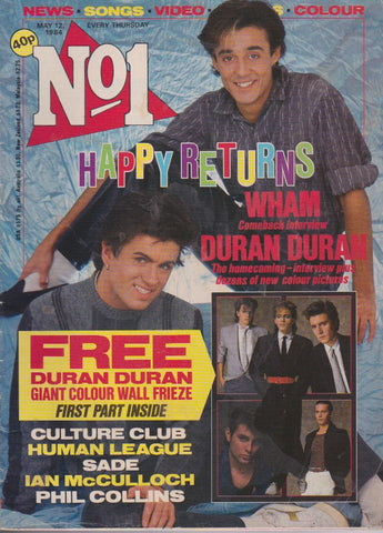 Number One Magazine 1984 - Wham - George Michael