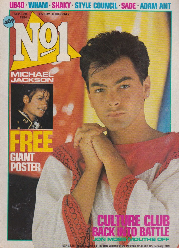 Number One Magazine 1984 - Jon Moss Culture Club