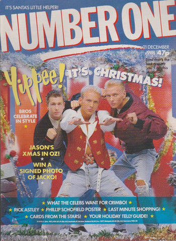 Number One Magazine 1988 - Bros - Christmas