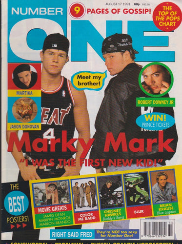 Number One Magazine 1991 - Donnie & Mark Wahlberg