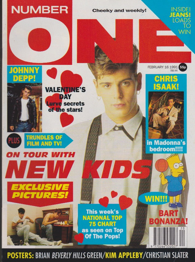 Number One Magazine 1991 - Jordan New Kids On The Block