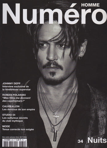 Numero Homme Magazine - 34 - Johnny Depp