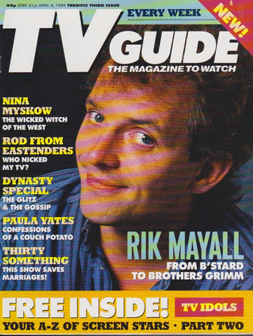 Tv Guide Magazine - Rik Mayall