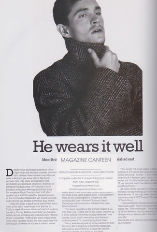 Hugh Dancy - He Wears It Well - Magazine