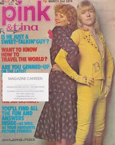 Pink Magazine - 1974 - The Sweet Brian Connolly.