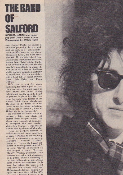 The Bard of Salford - John Cooper Clarke