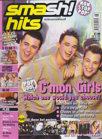 Smash Hits Magazine 2002 - Trio Cover