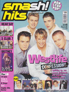 Smash Hits Magazine 2001 - Westlife