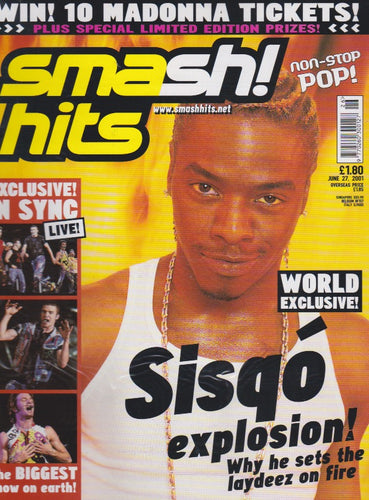 Smash Hits Magazine 2001 - Sisqo
