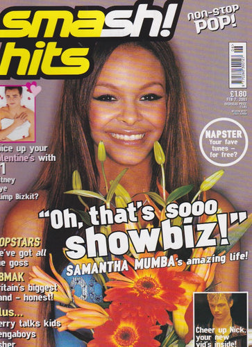 Smash Hits Magazine 2001 - Samantha Mumba