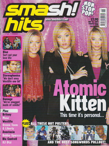 Smash Hits Magazine 2001 - Atomic Kitten