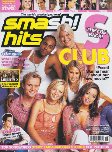 Smash Hits Magazine 2002 - S Club 7