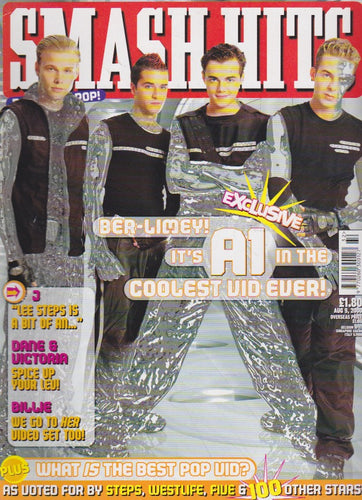 Smash Hits Magazine 2000 - A1 Ben Adams