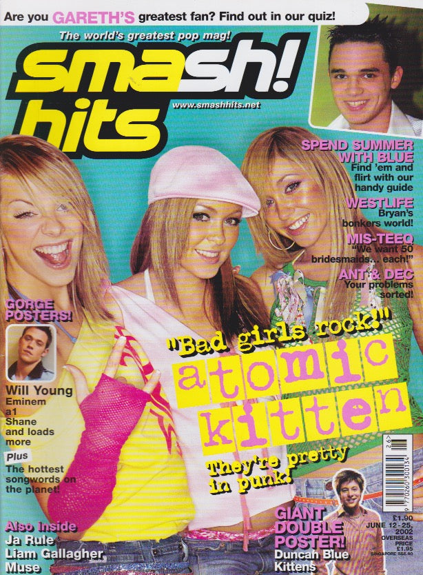 Smash Hits Magazine 2002 - Atomic Kitten